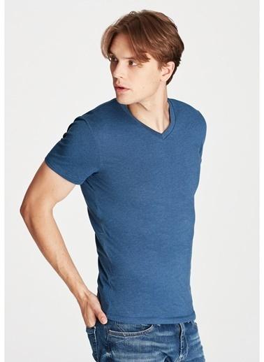 Mavi Mavi 061748-18790 Stretch V Yaka T-Shirt İndigo